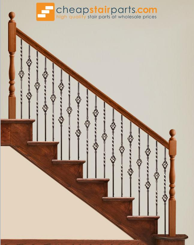 16.1.3 Single Basket Iron Baluster - Cheap Stair Parts
