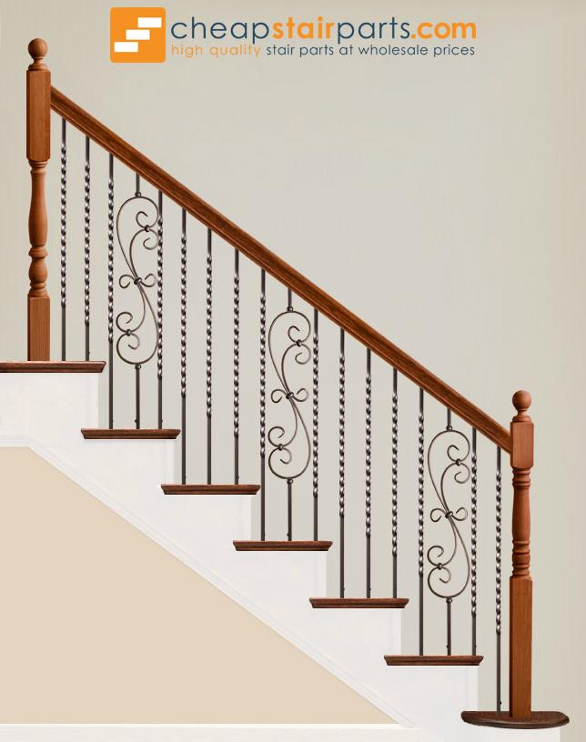 16.1.21-T Long Twist Hollow Iron Baluster - Cheap Stair Parts