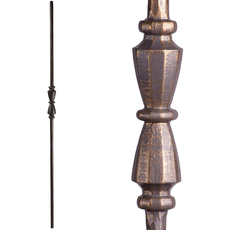 2.11.40 Single Hourglass Iron Baluster - Vintage Brass Iron Baluster House of Forgings