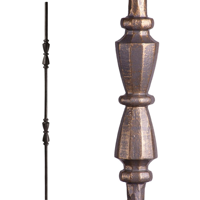 2.11.41 Double Hourglass Iron Baluster - Vintage Brass Iron Baluster House of Forgings