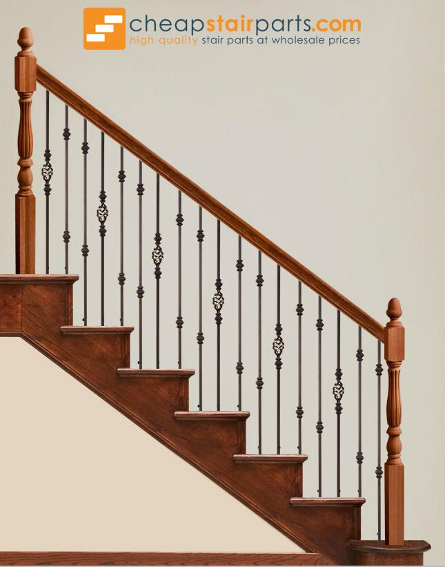 16.1.35-T Double Knuckle Hollow Iron Baluster - Cheap Stair Parts