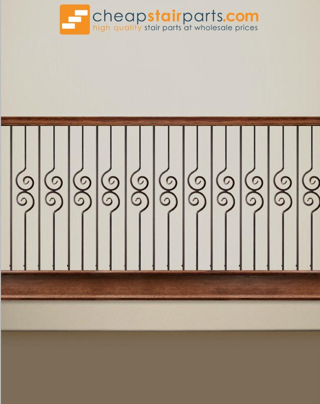 2.10.1 Double Spiral Iron Baluster House of Forgings
