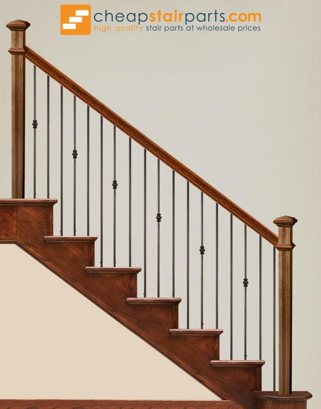16.2.1-T Plain Square Bar Iron Baluster - Cheap Stair Parts