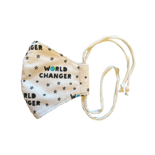 Organic Cotton Triple Layered Mask - World Changer Collection