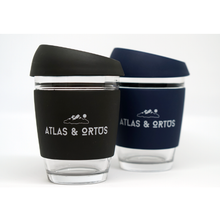 Glass Coffee Cup - Black (12oz)