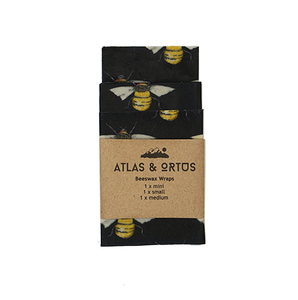 Beeswax Wraps - Pack of 3 (Bees)