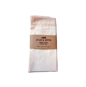 Organic Cotton Vegetable Bag - Multiple Sizes