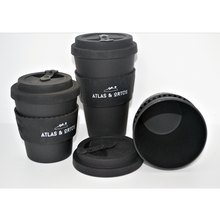 Bamboo Coffee Cup - Black (8oz, 12oz or 14oz)