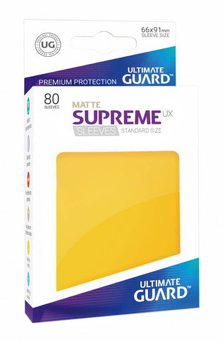Supreme UX Sleeves Standard Size Matte Yellow (80)