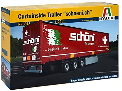 CURTIANSIDE TRAILER 1/24 Scale Kit