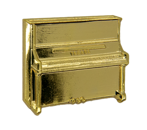 Exclusive Pin 'Piano Gold'. Designed by Godert.Me x Ruben Hein