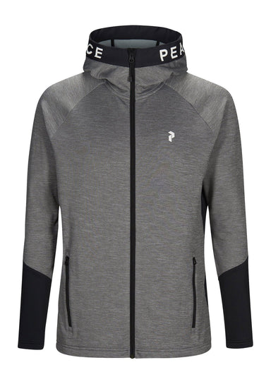 Peak Performance Rider Melange Zip Hood Mellanlager