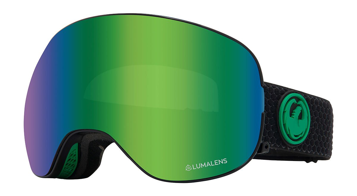 Dragon X2 Split/Lumalens Green Goggles