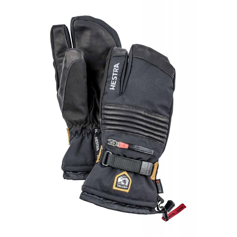 Hestra All Mountain Czone 3-Finger Skidhandskar - Black - Blacksnow