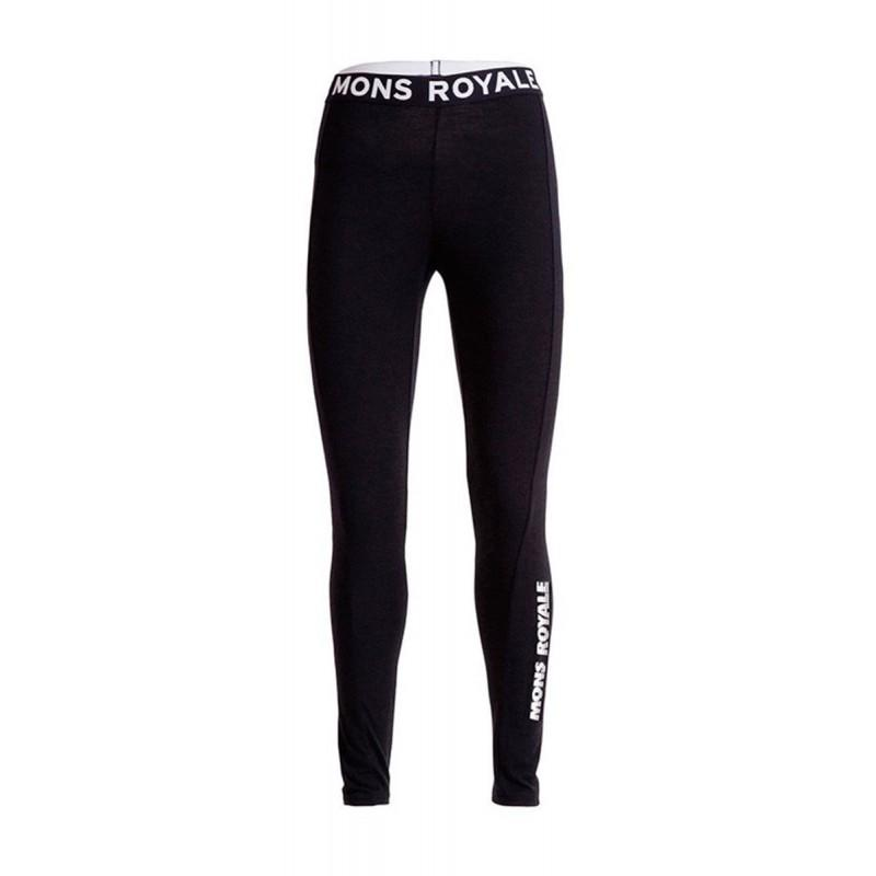 Mons Royale La Glisse Leggings - Black - Blacksnow
