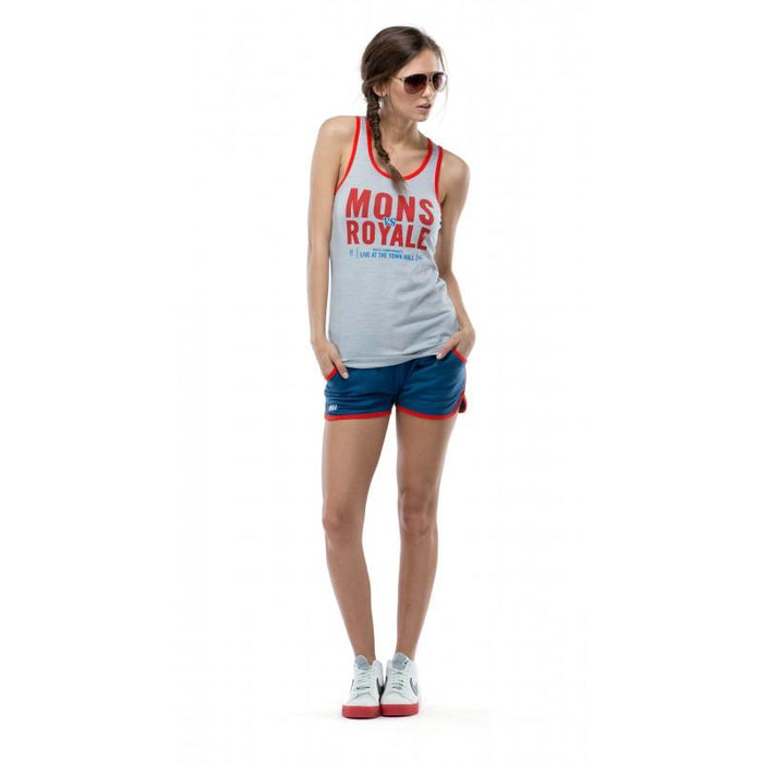 Mons Royale Racer Back Tank - Grey - Blacksnow