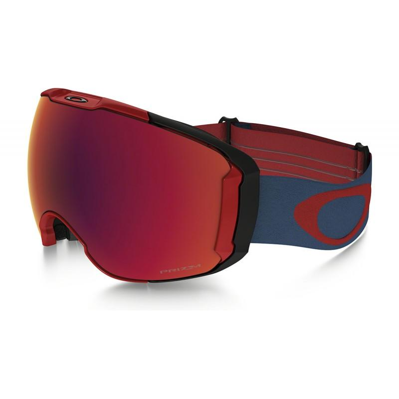 Oakley Airbrake XL Red Legion Blue / Prizm Torch Iridium & Prizm Sapphire Iridium - - Blacksnow