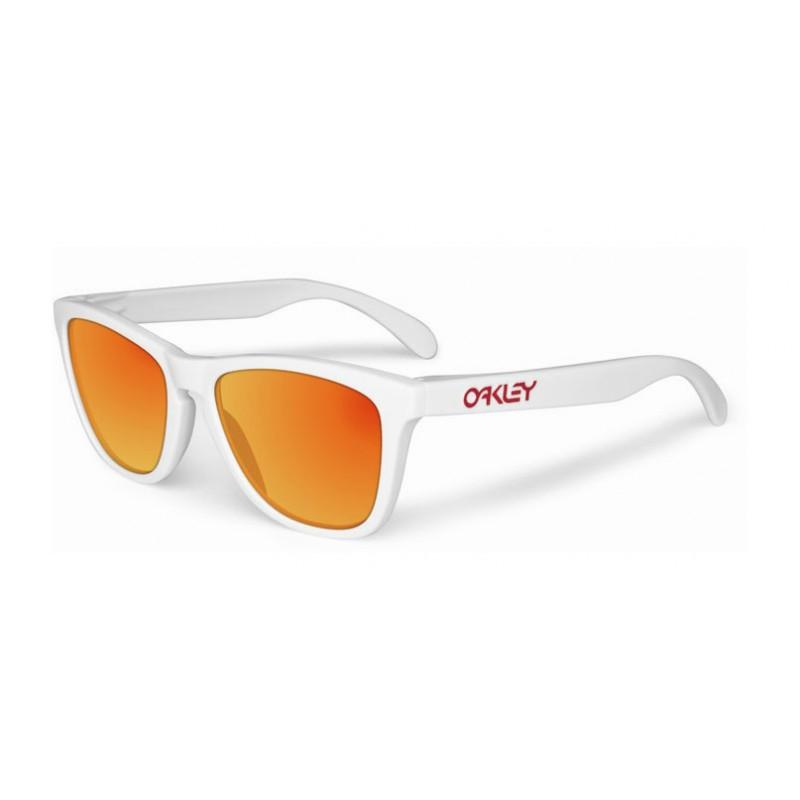 Oakley Frogskins Polished White / Ruby Iridium - - Blacksnow