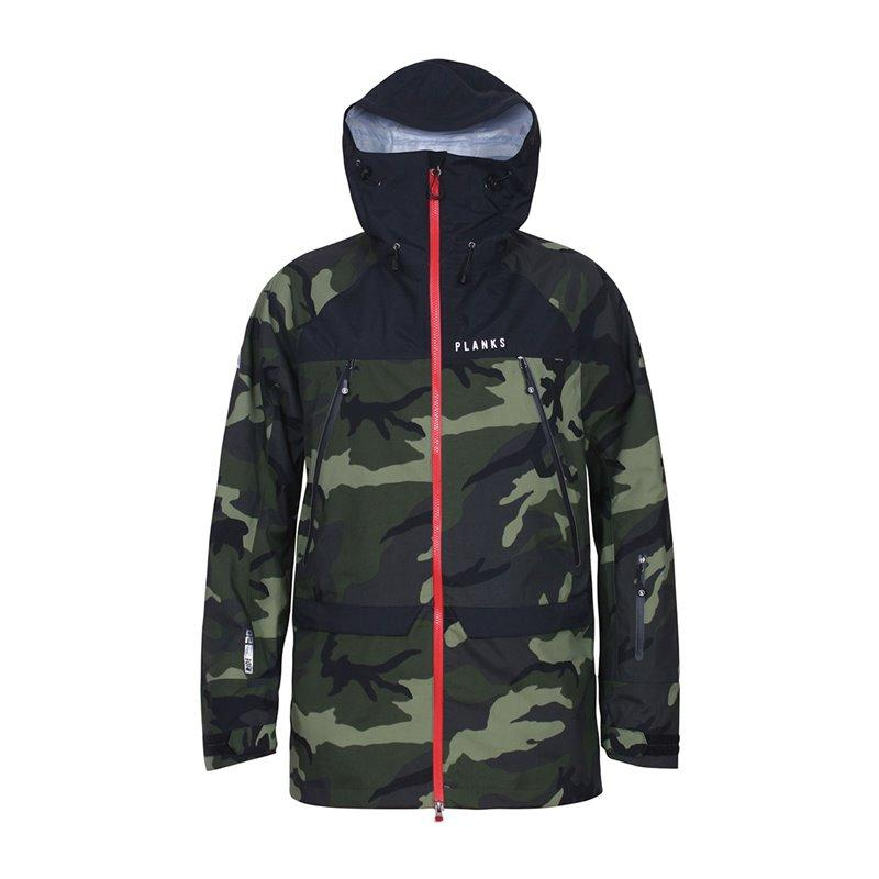 Planks Yeti Hunter 3L Layer Skidjacka 2017 - British Camo - Blacksnow