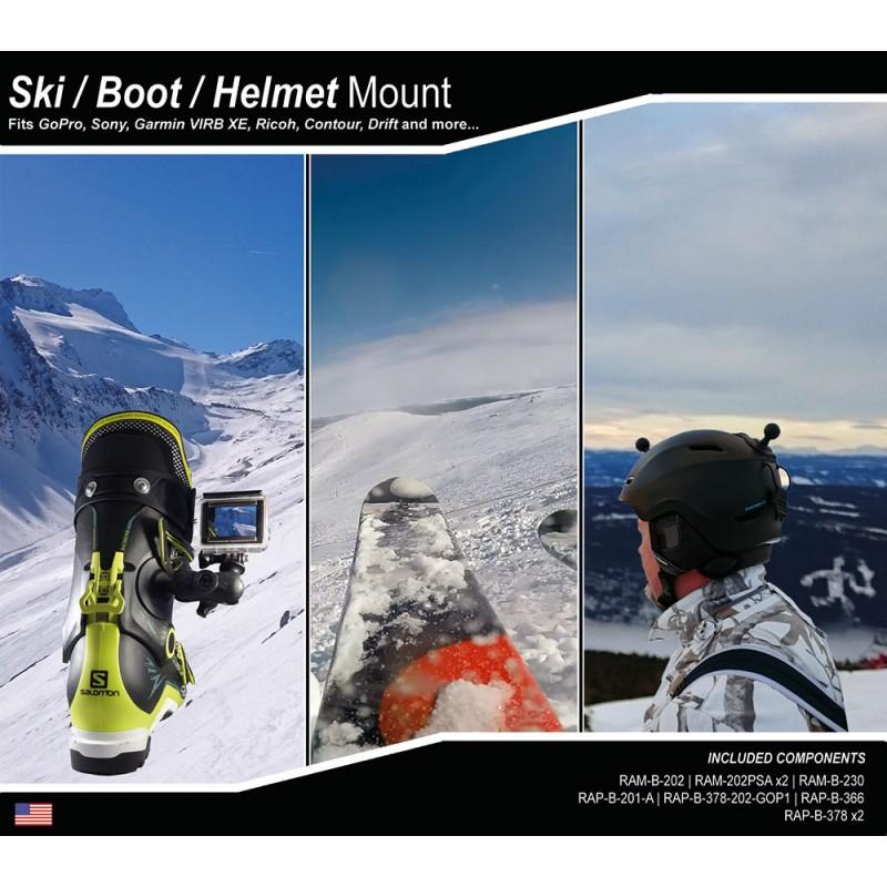 RAM Mounts BOOT HELMET SKI MOUNT KIT - - Blacksnow