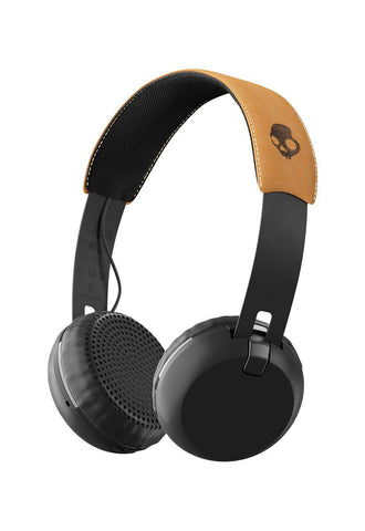 Skullcandy Grind Trådlösa Bluetooth Headphones 2018 - Black/Brown - Blacksnow