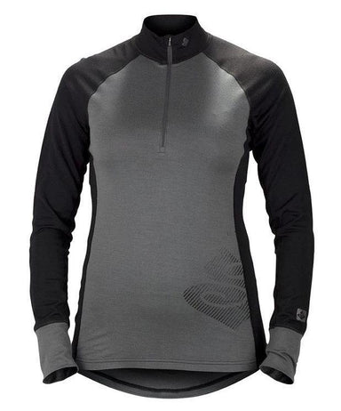 Sweet Protection Womens Alpine 1/2 Zip Skiundertrøje 2018 Grey/Black - Blacksnow.dk