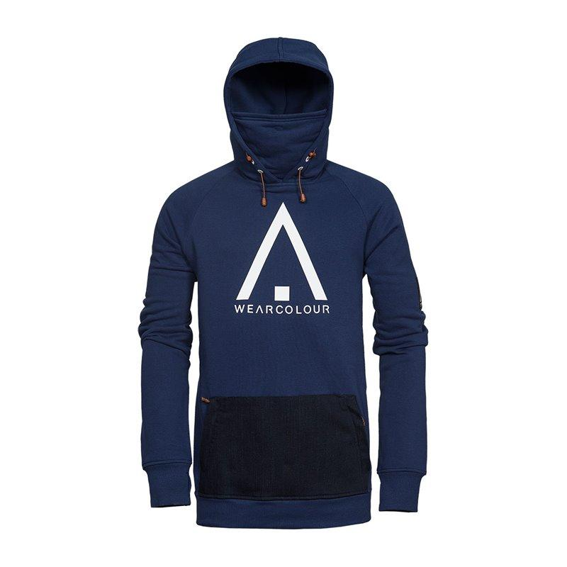 WearColour Bowl Hood Luvtröja 2018 - Midnight Blue - Blacksnow