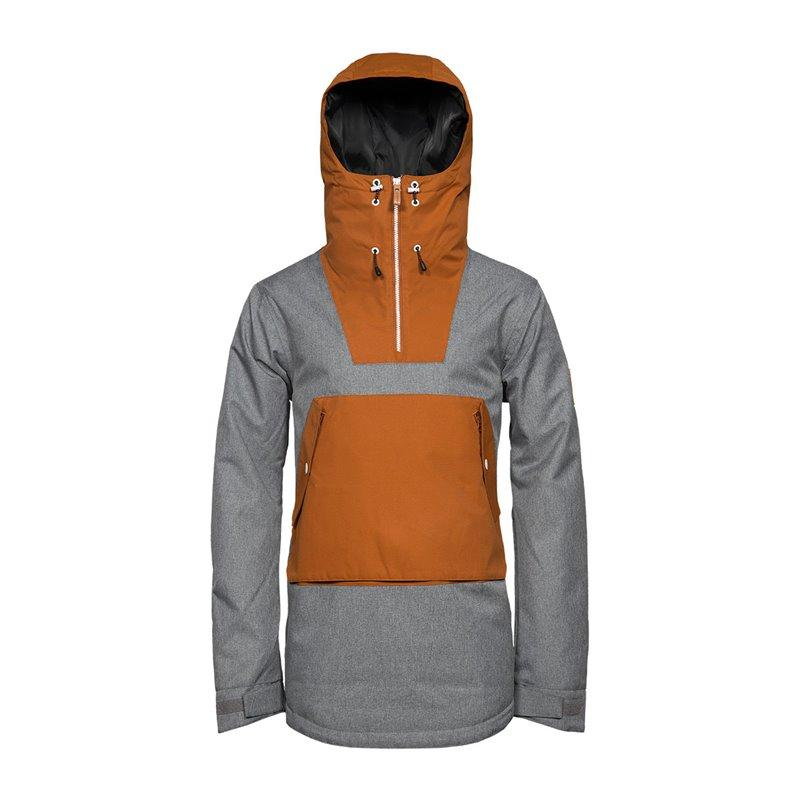 WearColour Wear Anorak 2018 - Grey Melange - Blacksnow