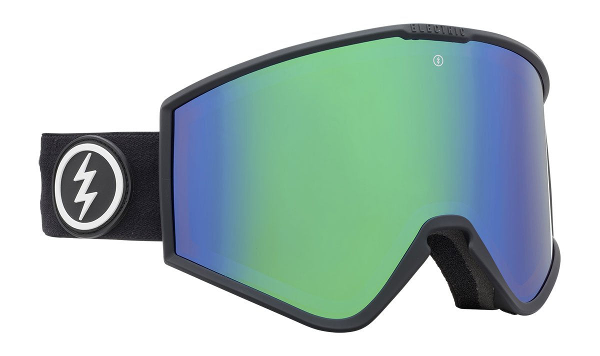 Electric Kleveland Matte Black Brose / Green Chrome Goggles