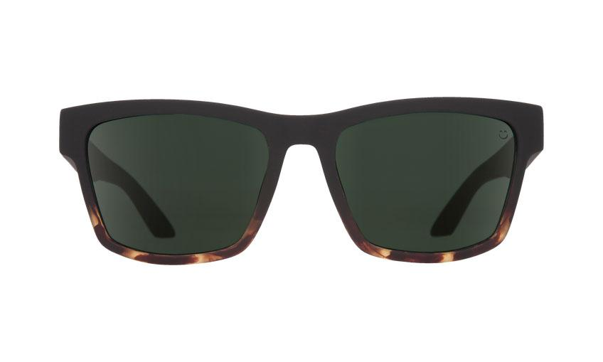 Spy Haight Soft Matte Black w. Tort Fade / Happy Gray Green Solbriller