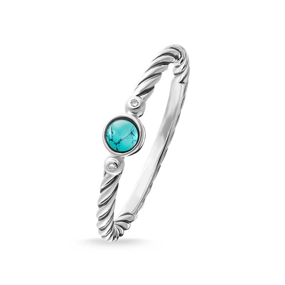 Thomas Sabo Turquoise Rope Ring