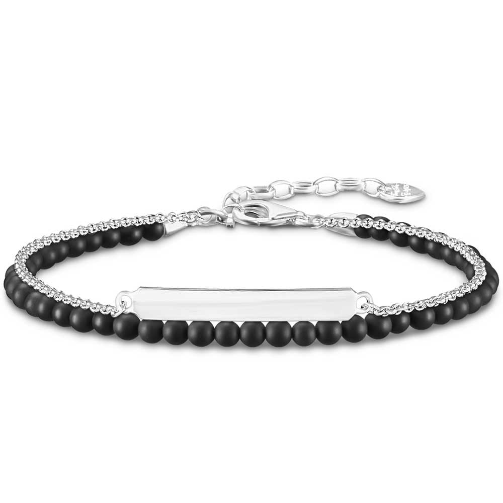 Thomas Sabo Silver and Black Love Bridge