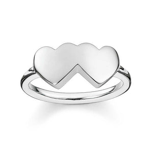 Thomas Sabo Silver Double Heart Ring