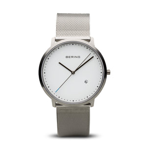 Bering Mesh Silver Mens Watch