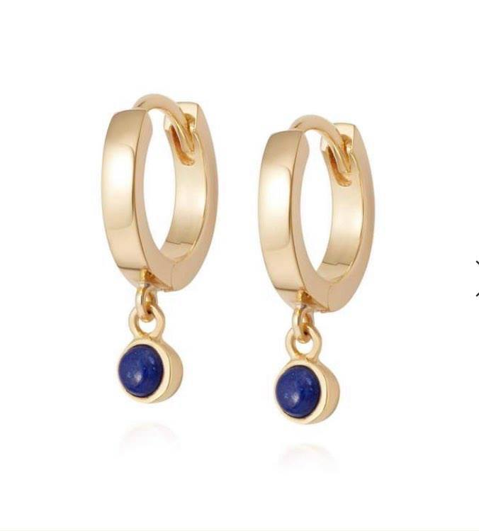 Daisy Lapis Healing Huggie Hoop Earrings