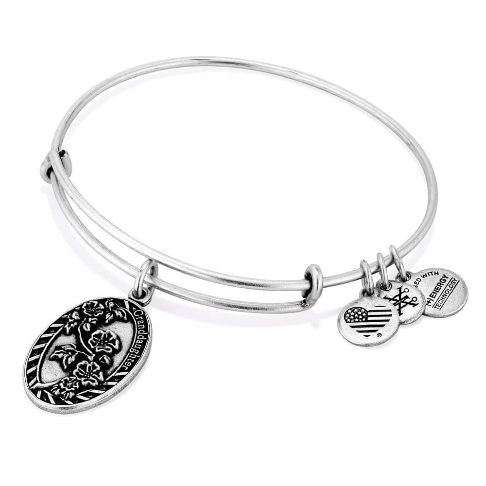 Alex and Ani Silver Granddaughter expandable bracelet