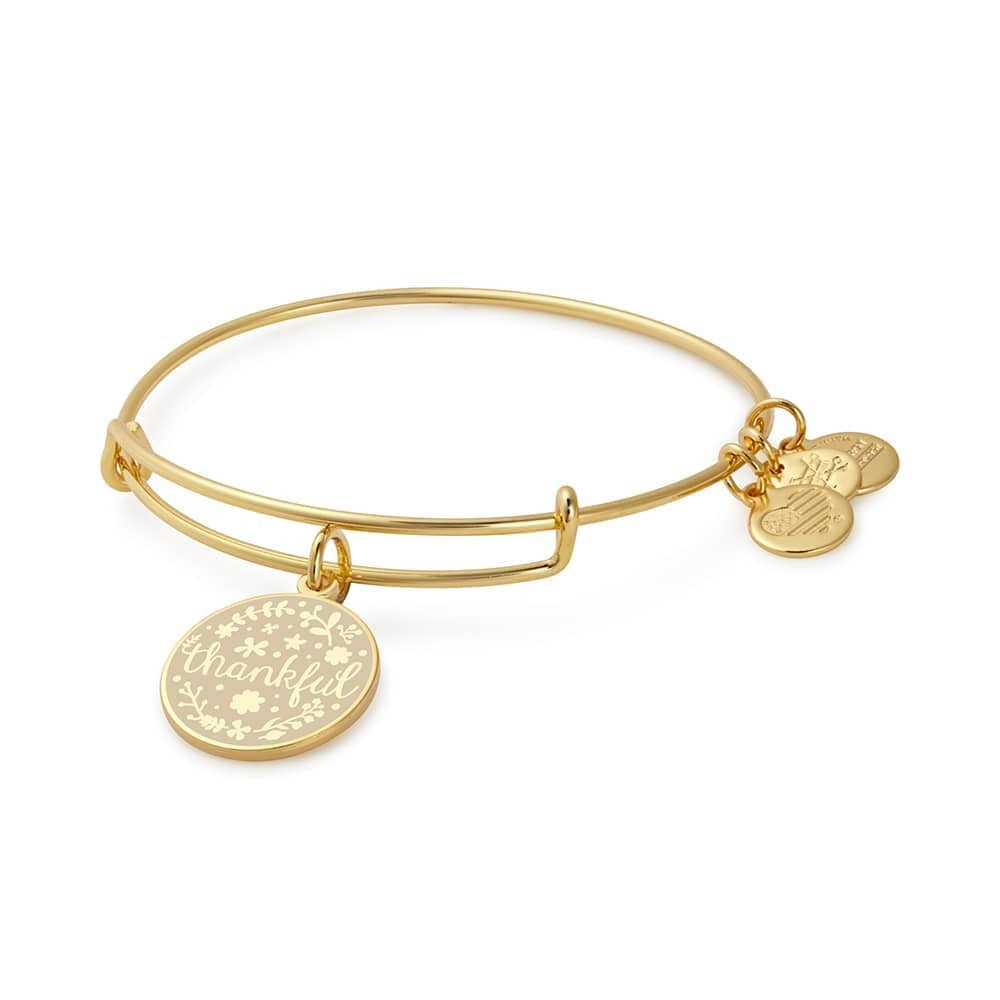 Alex and Ani Gold Thankful