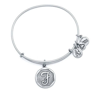 "Alex and Ani Silver ""F"""
