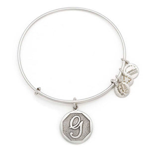 "Alex and Ani Silver ""G"" expandable bangle"