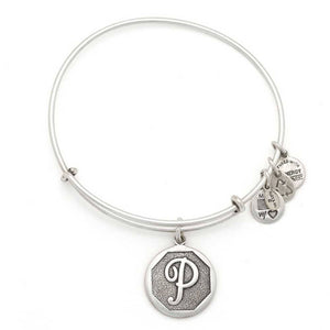 "Alex and Ani Silver ""P"""