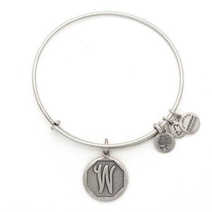 "Alex and Ani Silver ""W"" expandable bracelet"