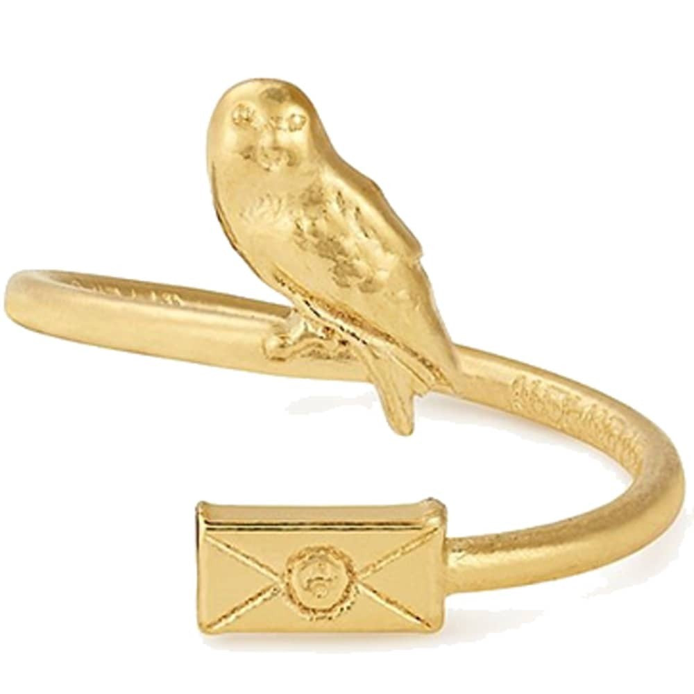 Alex and Ani Owl Post Gold Ring