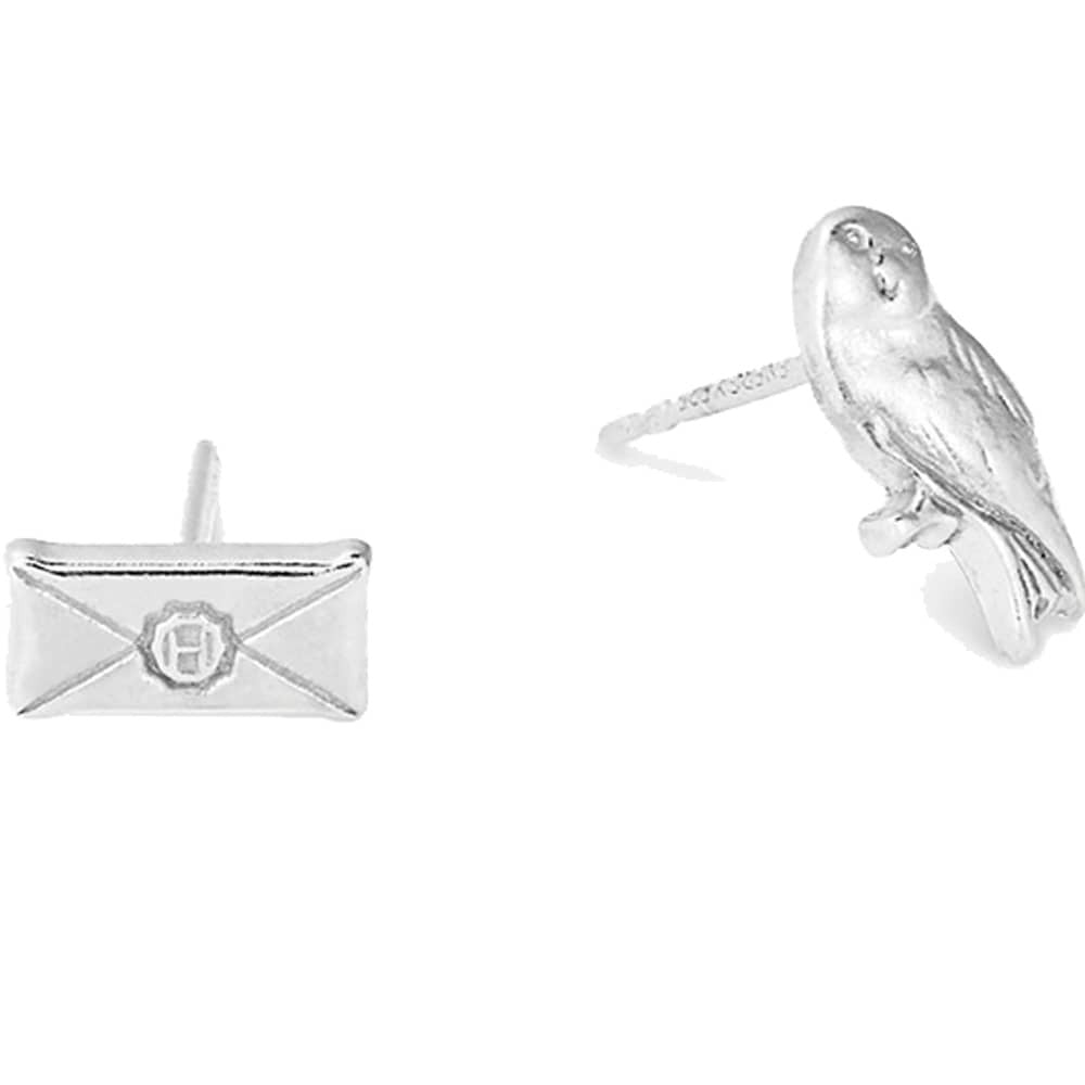 Alex and Ani Silver Owl Post Earrings