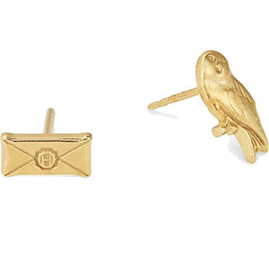 Alex and Ani Owl Post Gold Earrings