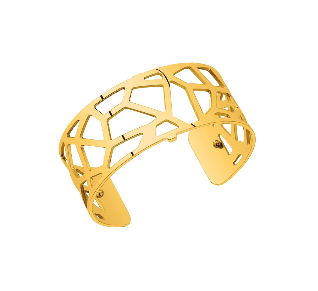 Les Georgettes Shiny Ruthenium Girafe Cuff 25mm