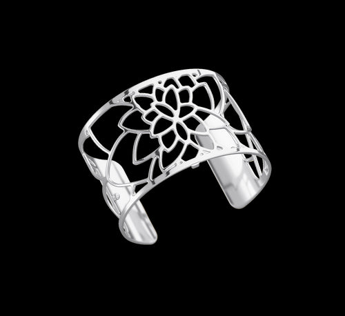 Les Georgettes Shiny Silver Nenuphar Cuff 40mm