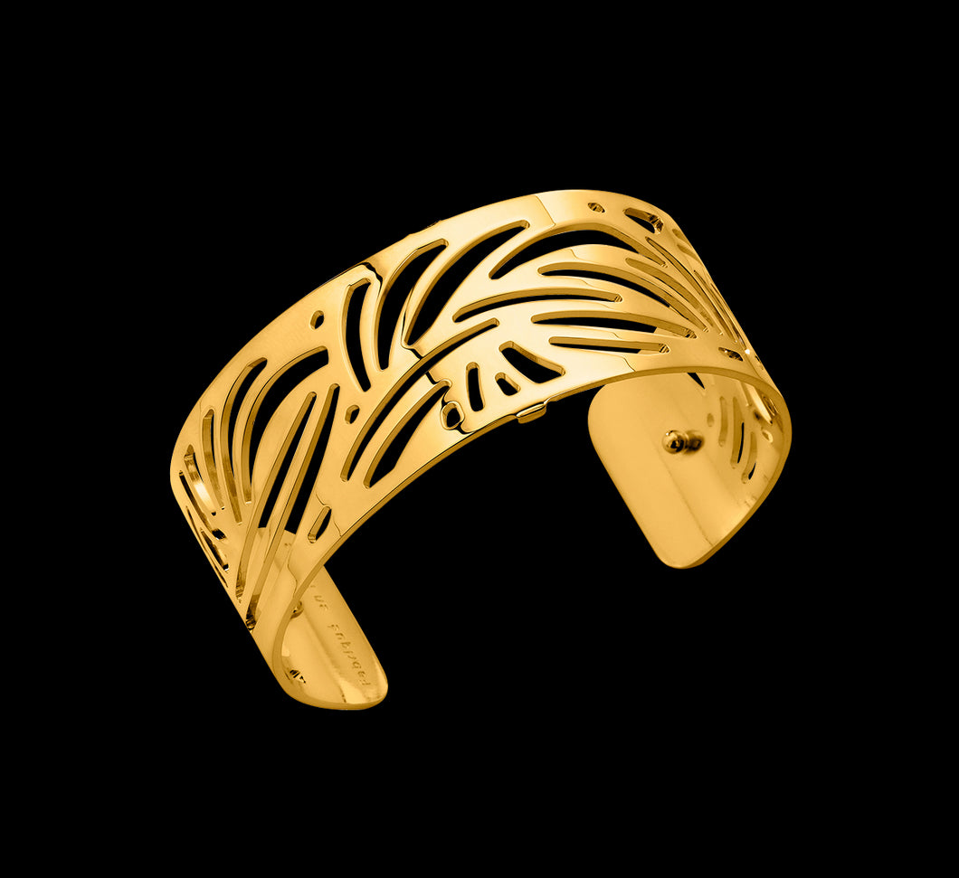 Les Georgettes Shiny Gold Aloe Cuff 25mm