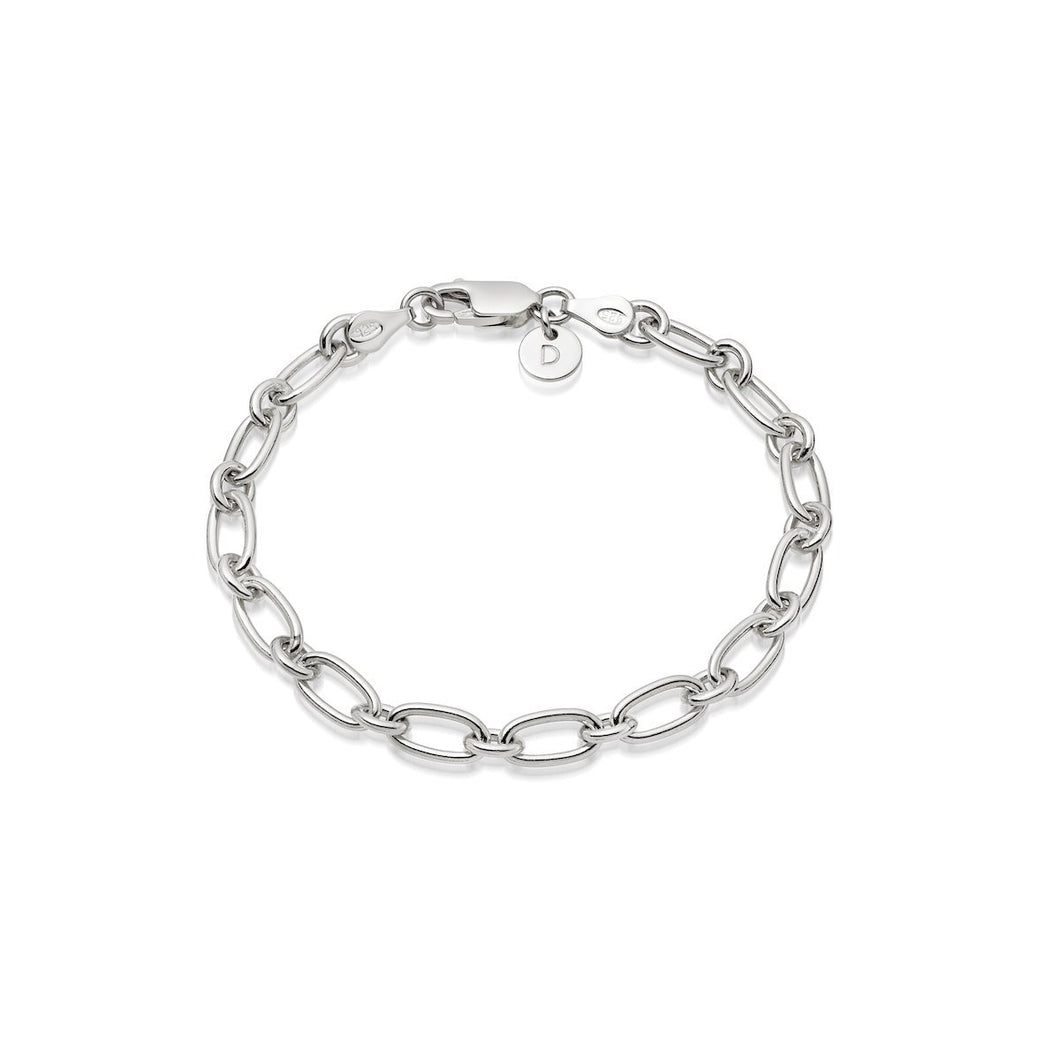 Daisy Stacked Linked Chain Bracelet