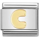 Nomination Gold Letter C Link