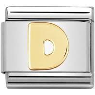 Nomination Gold Letter D Link